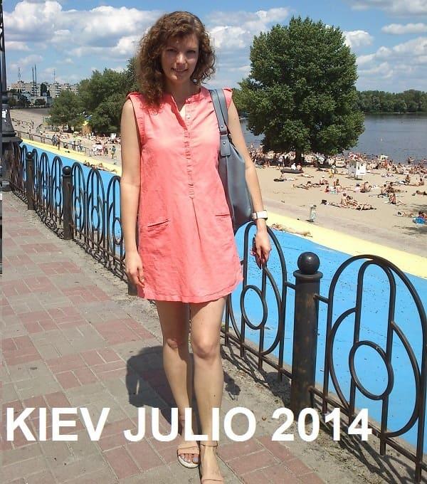 Kiev Ucrania en verano
